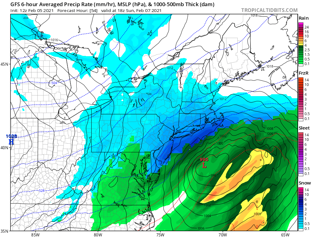 Possible Winter Storm - Super Bowl Sunday - Page 9 Gfs_mslp_pcpn_frzn_neus_9.png.6425b4b9ef698c6fcba3d1c0f1889fbf